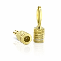 RCA DT92CWB Banana Plug Connector for 16 to 12 Guage Speaker Wire with Centerpin Technology<!--DT92CWB-->