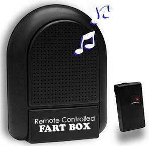 Remote Controlled Fart Box with 8 Realistic Fart Sounds and 100' Range<!--FARTBOX-->