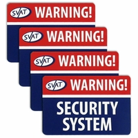 SVAT 4 Pack of Window Warning Stickers with UV fade Protection (VU100-ST) <!--VU100-ST-->
