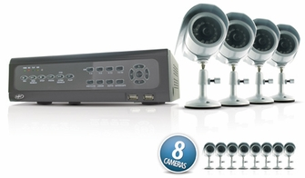 SVAT CV501-16CH-007 Do-it-Yourself DVR Security System with 8 Indoor/Outdoor Night Vision CCD Surveillance Cameras and Smartphone Compatibility<!--CV501-16CH-007-->