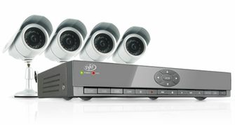 SVAT CV502-4CH-002 Web Ready 4 Channel H.264 500GB HDD DVR Security System with Smart Phone Access and 4 Indoor/Outdoor Hi-Res Night Vision CCD Surveillance Cameras<!--CV502-4CH-002-->