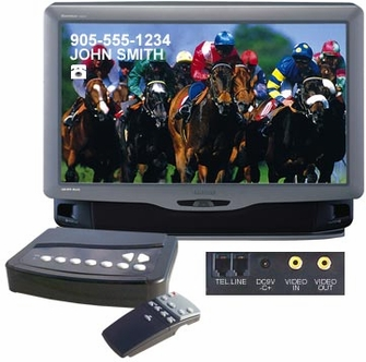 TV Call Display Caller ID On Television System with Remote<!--CID100-->
