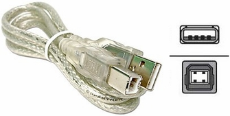 USB 1.1 & 2.0 Cable with A to B Connectors 6 Feet<!--USBCABAB6FT-->