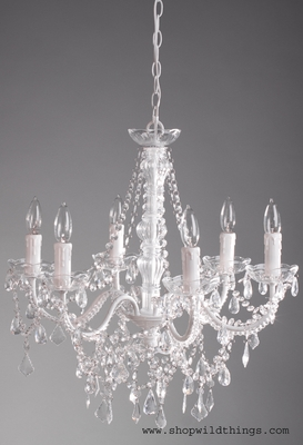 White large crystal chandelier aliana 6 lights extra large white large crystal chandelier aliana 6 lights extra large popular for weddings and events 19999 22 wide buy at shopwildthings aloadofball Gallery