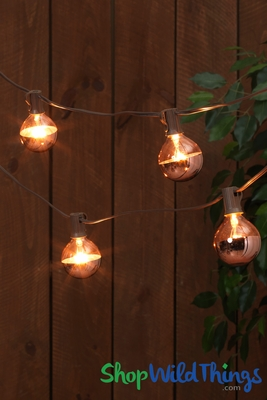 String Lights Metallic Dipped Globes Fun And Unique Lighting Shopwildthings Com