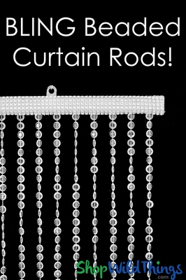 Decorate Beaded Curtain Rods Custom Bling Item