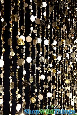 Gold Beaded Curtain Bubbles Door Beads Metallic Gold