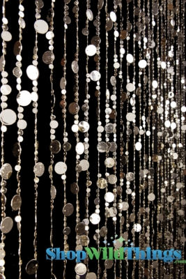 Light Gold Backdrop Beaded Curtain Light Gold Circles