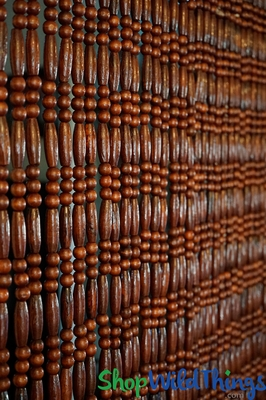Natural Wood Beaded Curtain Home Studio Amp Garden Decor