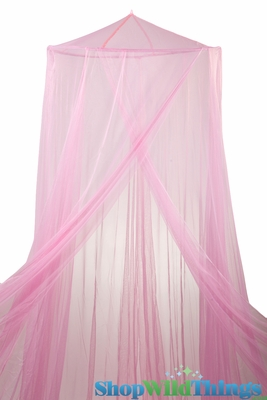 Pink Mosquito Net Canopy Princess Bed Canopy