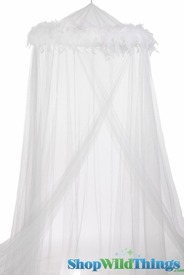 Bed Canopy With Feathers White White Feather Garland Mosquito Net Canopy Shopwildthings Com