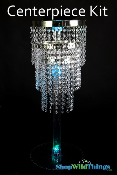 Quot tall centerpiece display kit includes chandelier and