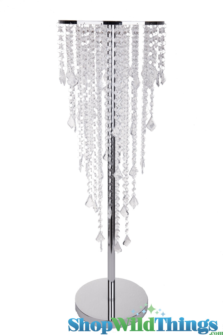 Centerpiece display riser stand w crystal strands quot