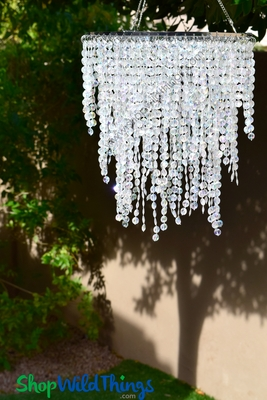 Diamond Cut Crystal Beaded Chandelier 3 Tier 22