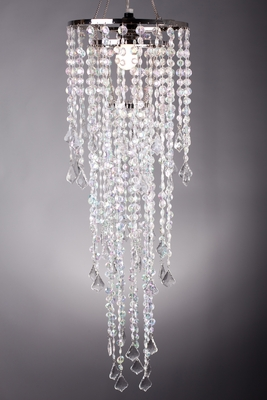 Crystal Beaded Chandelier With Light Kit Hang Or