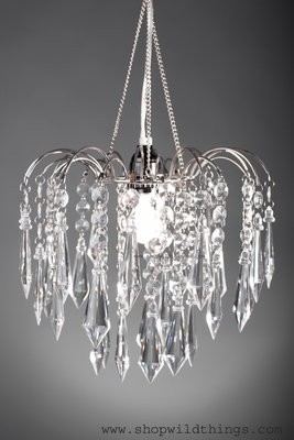 Chandelier Quot Bejeweled Quot Clear Crystal W 4 Quot Crystals