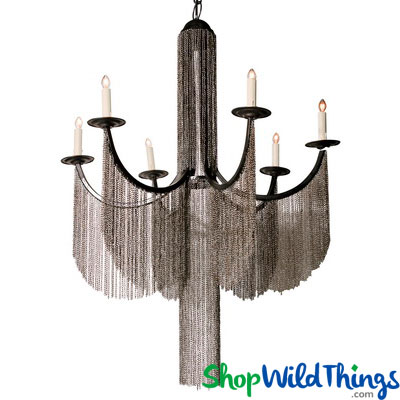 metal chain chandelier with 6 lights modern lifestyle lighting