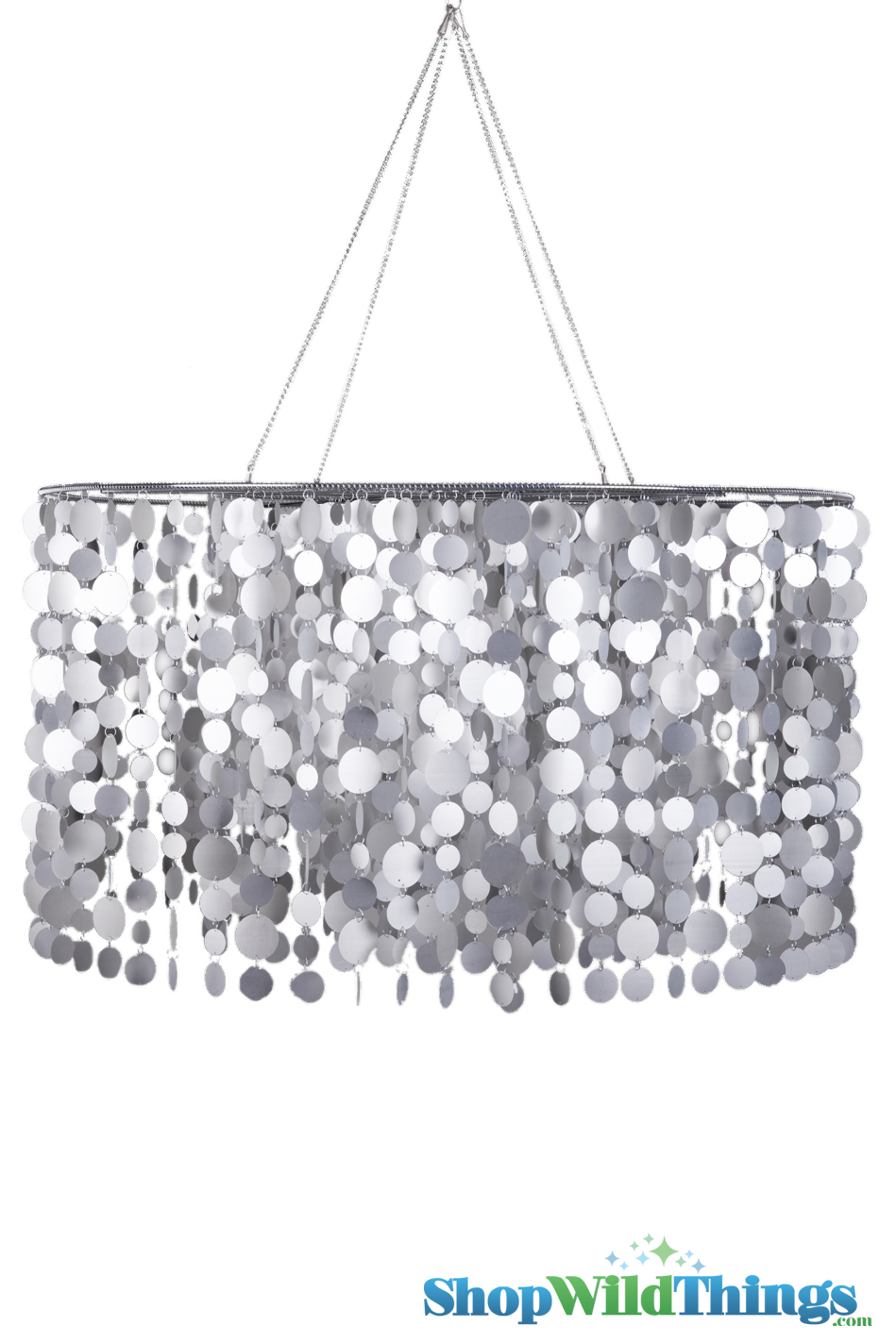 chandelier frost circles silver 40 u0026quot