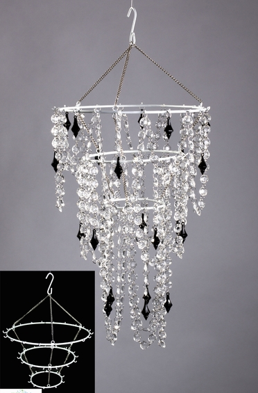chandelier frame diy hanging chandelier make your own