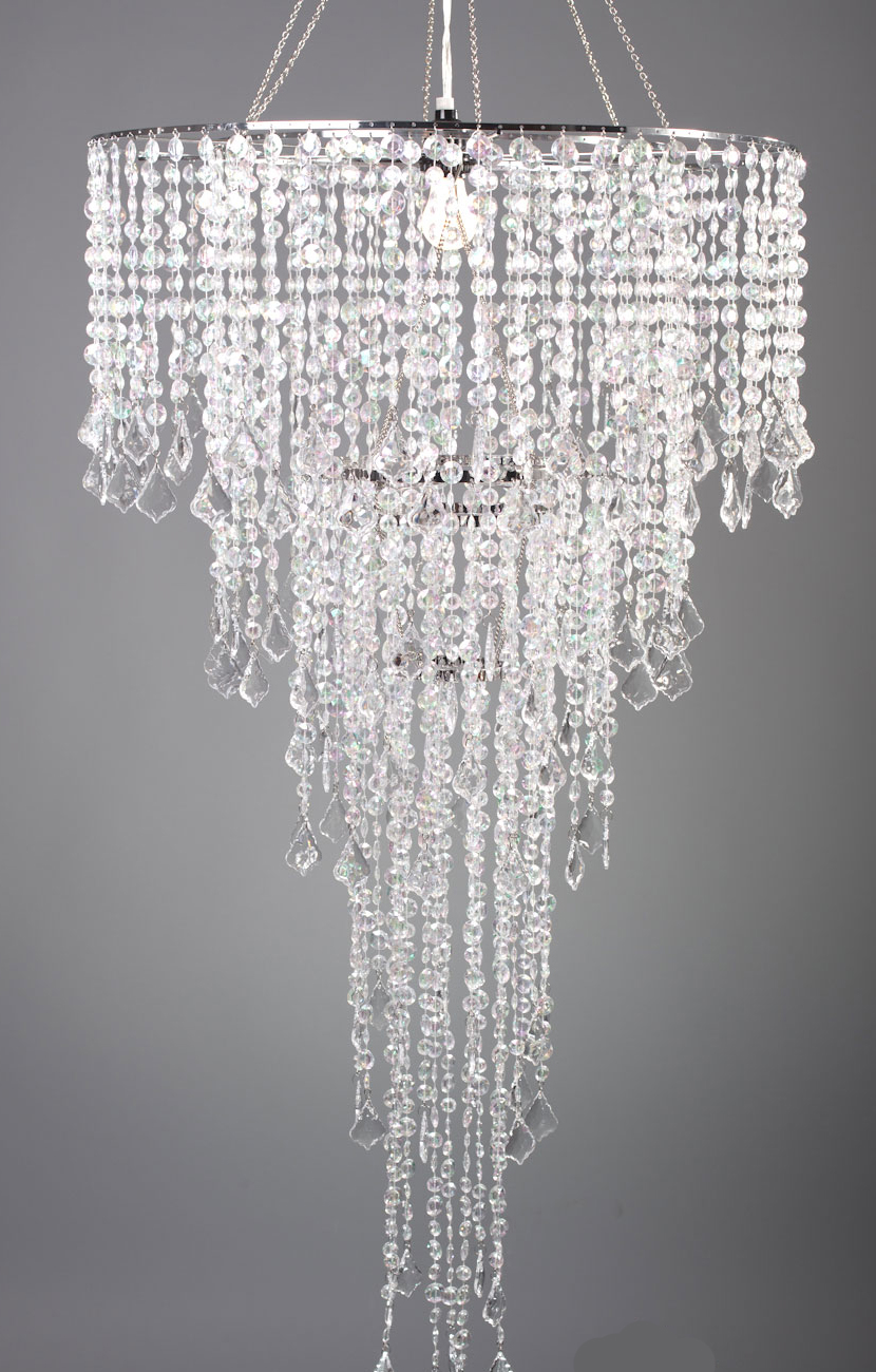Chandelier set crystal iridescent - Chandelier glass beads ...