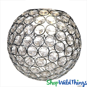Crystal ball chandelier centerpiece vase or lamp topper silver 7 crystal ball chandelier centerpiece vase or lamp topper silver 7 shopwildthings aloadofball Choice Image