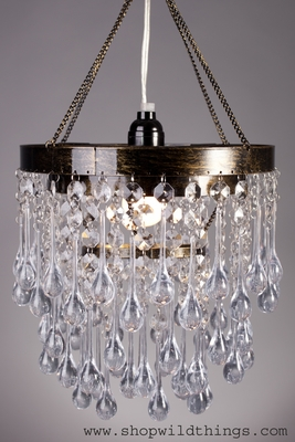 Crystal Drop Chandelier With 3 Tiers Shopwildthings Com