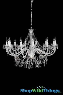 White Chandelier Large White Chandelier For Home And Events