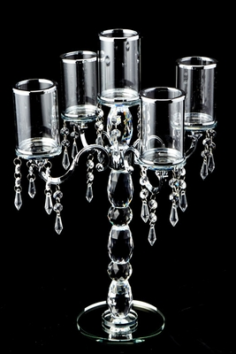 Wedding Candelabra Glass Cylinder Candle Holders