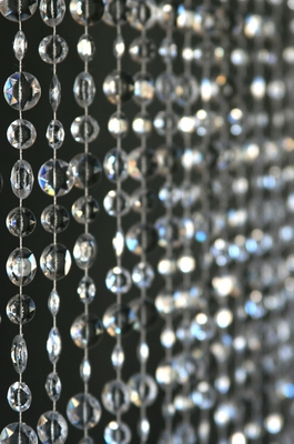 Crystal Clear Sparkling Beaded Curtain Event Backdrops