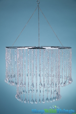 Iridescent Beaded Large Acrylic Chandelier Shopwildthings