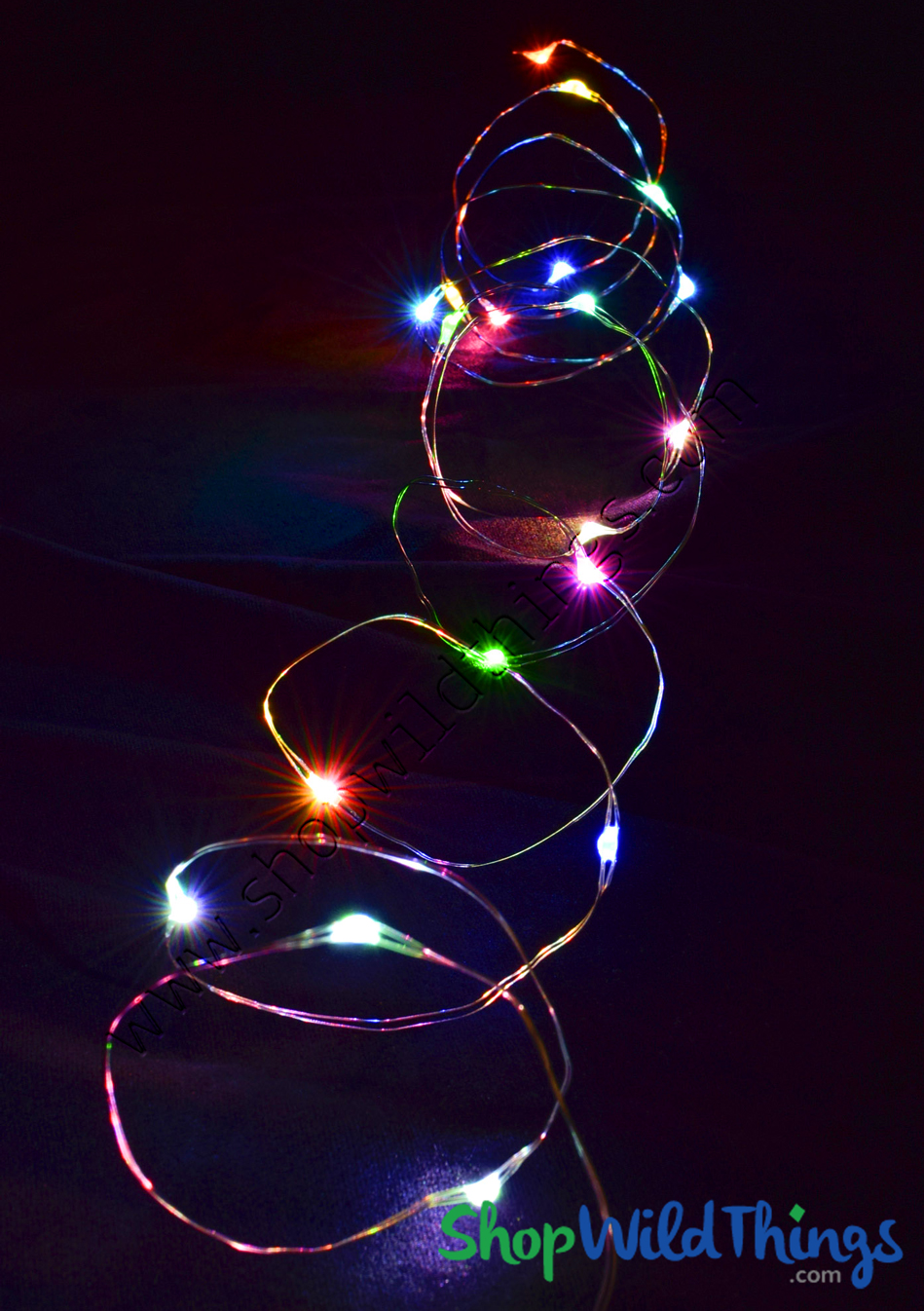 Colorful String Lights : Fairy String Lights with 20 LED's, Multicolor Colorful Rainbow, Decorative String Lights, LED ...