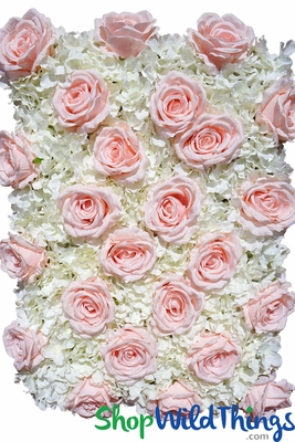 Pink And Ivory Wedding Flower Wall Photo Backdrop Panels