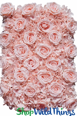 Blush Soft Pink Silk Rose Flower Wall Panel 19 Quot X 26 Quot