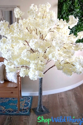 Faux Flowering Dogwood Cherry Blossom Trees W Bendable