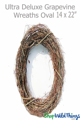 22 Quot Oval Wreaths Natural Grapevine Hanging Decor