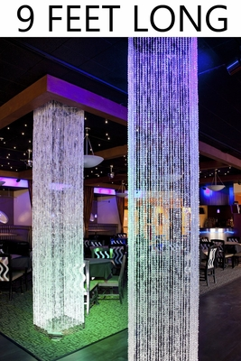 Hanging Beaded Crystal Columns Large Room Decorations