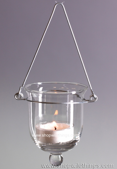 Hanging glass votive candle holders shopwildthings for Hanging votive candles