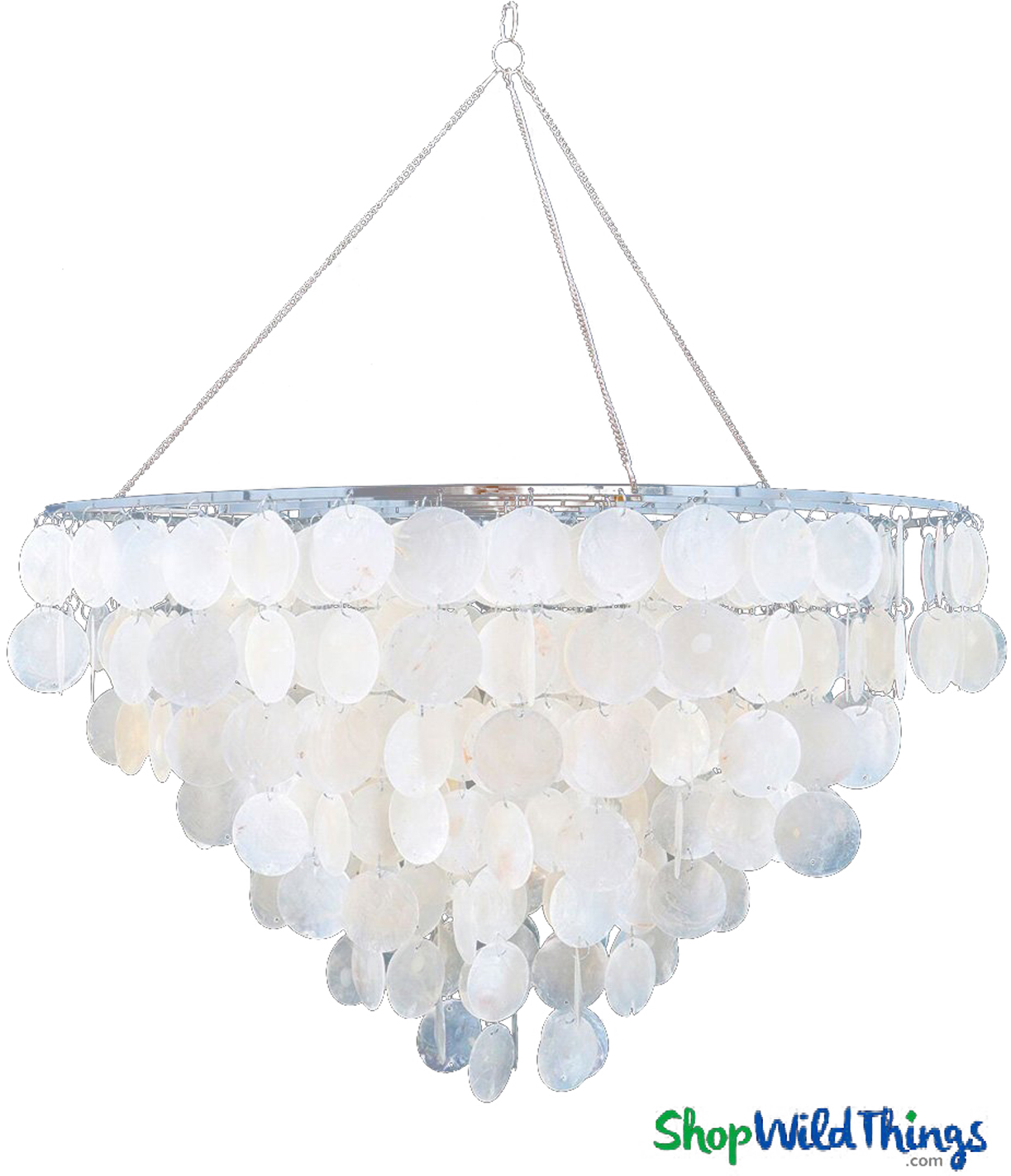 crystal medium decorations shell ch light of ceiling seashell chandeliers gallery with capiz chandelier size lighting