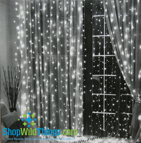 Led Warm White Light Curtain 6 39 Long With 144 Lights Party Light Curtain