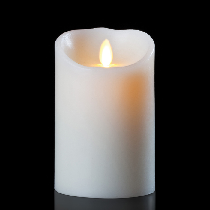 luminara wax candle ivory 3 5 x 7 with timer remote