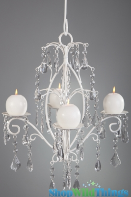 Crystal white wedding decorcandle chandelier hang or tabletop crystal white wedding decorcandle chandelier hang or tabletopshopwildthings aloadofball Image collections