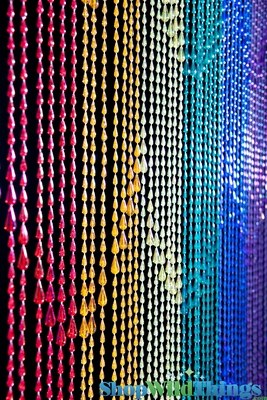 Remote Control Ball >> Pride Beaded Curtains, Rainbows Curtains, Rainbow Raindrops Curtain, Backdrops, Rainbow Colors ...