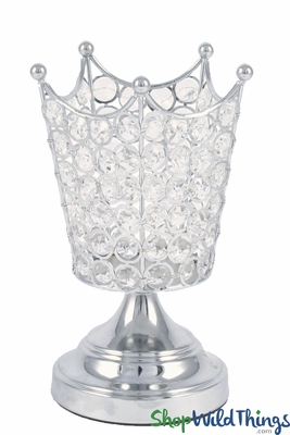 Crystal Beaded Crown Candle Holder Amp Vase Wedding Prom Event Decor Shopwildthings Com