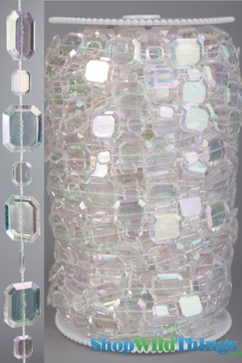 Crystal Strands Of Beads Sparkling Acrylic Roll Of Beads