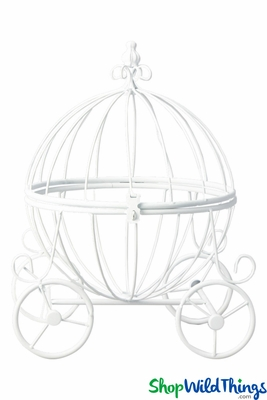 wedding table carriage centerpiece  tall card holder