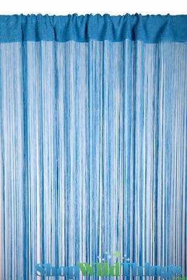 Blue String Curtain Rayon Fringe Backdrop Shopwildthings Com