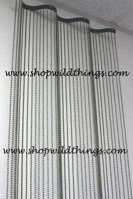 Ballchain Curtain On Wavy Rod 8 Divider Amp Backdrop Shopwildthings Com