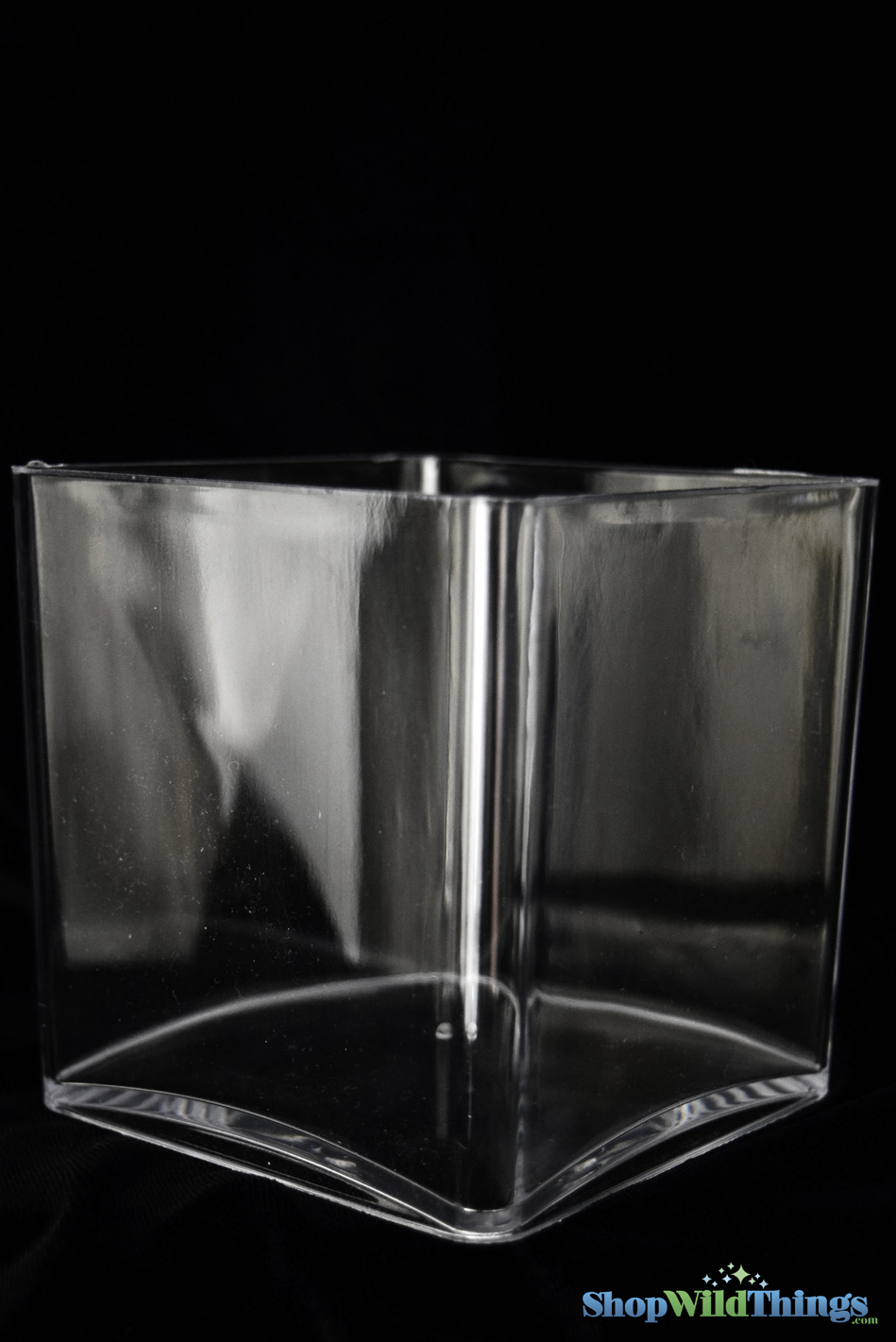 clear acrylic cube vase square 5 inches great for lightweight centerpieces. Black Bedroom Furniture Sets. Home Design Ideas
