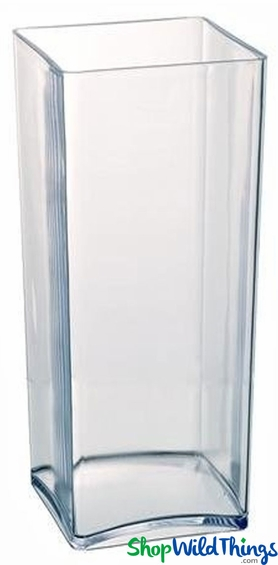 Acrylic vase rectangle square shape 18 tall x 5 for for Square narrow shape acrylic