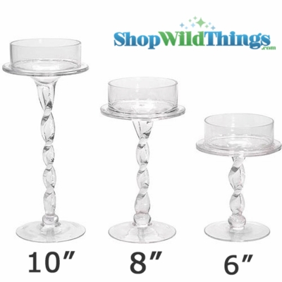 Candle Holder With Twisted Stem 6 Quot Tall Centerpiece